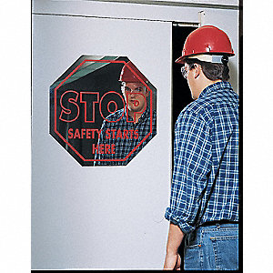 Mirror Stop Sign,16 x 16In,R,ACRYL,ENG