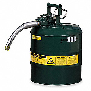 Type II Safety Can,Green,13-1/4 In. H