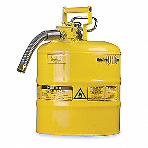 Type II Safety Can,Yellow,13-1/4 In. H