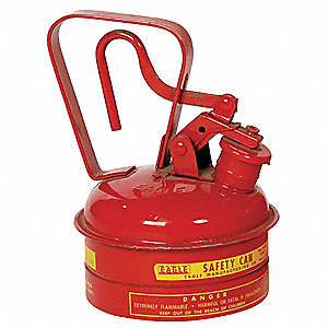 Type I Safety Can,1/4 gal.,Red,8In H