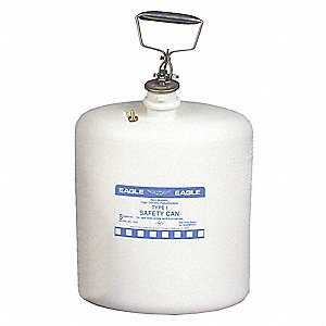 Type I Safety Can,5 gal.,White,17In H