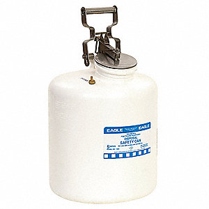 5 gal. Polyethylene Safety Disposal Can with Free Swinging Handle, White