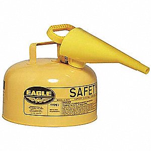 Type I Can Type, 2 gal., Diesel, Galvanized Steel, Yellow