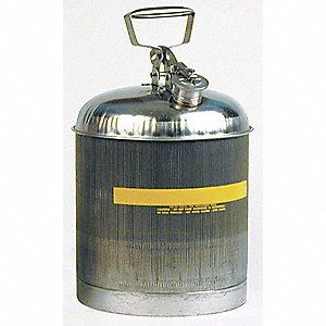 5 gal. Type I Safety Can, Used For Flammables, Silver