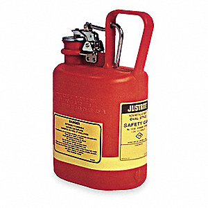 1 gal. Type I Safety Can, Used For Flammables, Red&#x3b; Includes Stainless Steel Fittings