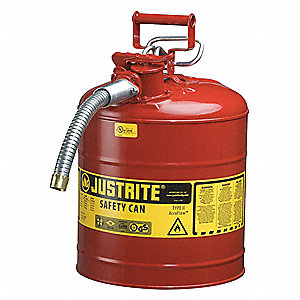 Type II Safety Can,17-1/2 In. H,Red