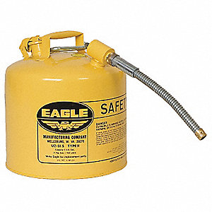 Type II Safety Can,Yellow,15-7/8 In. H