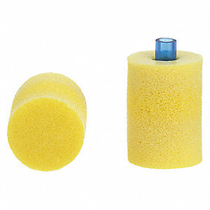 29dB Disposable Cylinder-Shape Ear Plugs; Uncorded, Yellow, Universal