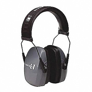 26dB Behind-the-Neck Ear Muff, Dark Gray&#x3b; ANSI S3.19-1974