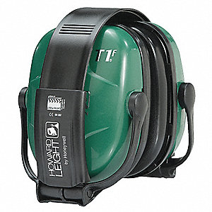 25dB Folding Ear Muff, Black/Green&#x3b; ANSI S3.19-1974