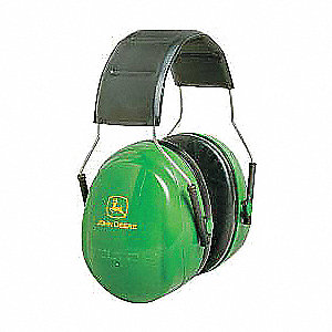 27dB Over-the-Head Ear Muff, Green/Yellow&#x3b; ANSI S3.19-1974