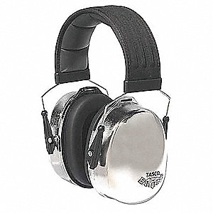 Ear Muff,29dB,Over-the-Head,Silver