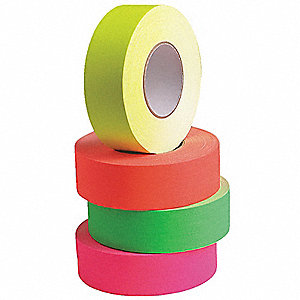 45m x 48mm PVC Coated Cloth Gaffers Tape, Neon Orange