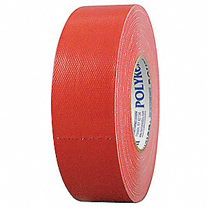 Industrial Duct Tape, 48mm X 55m, 12.00 mil Thick, Red Coated Cloth, 1 EA