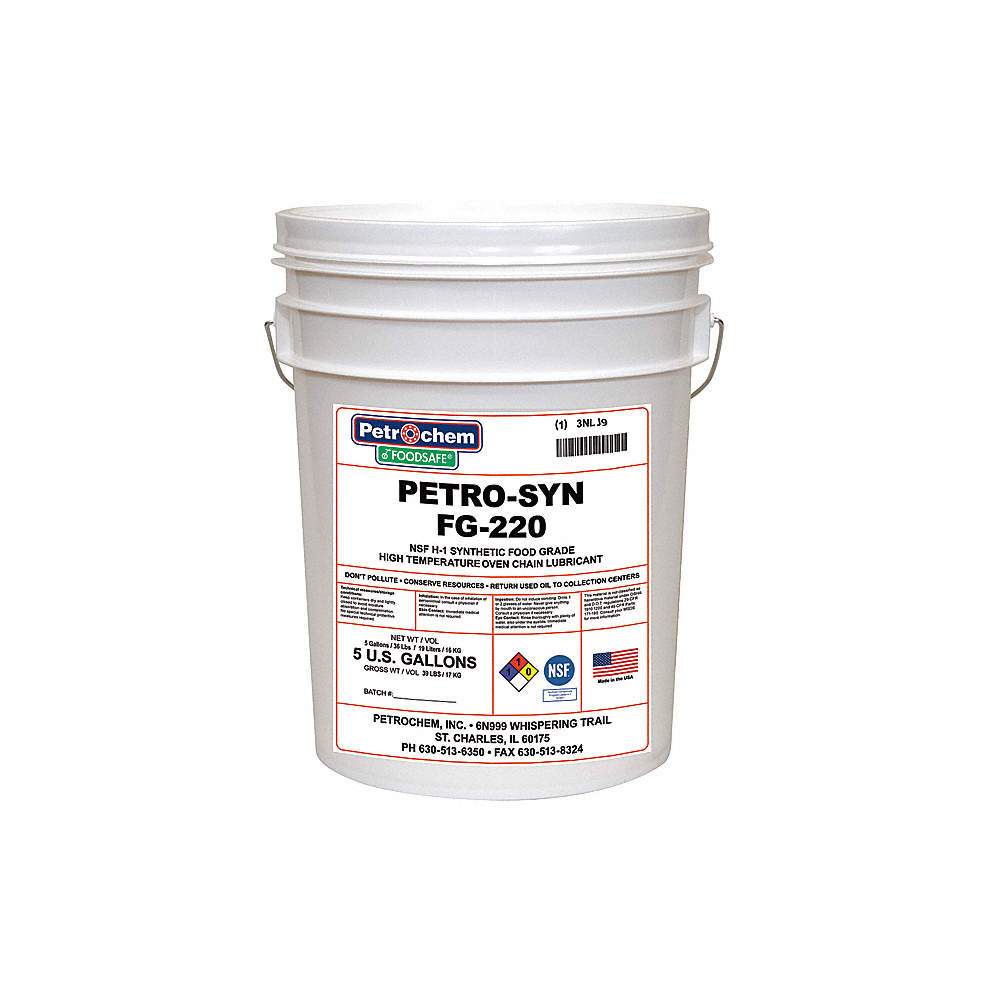 Oven Lubricant, -4°F to 625 Degrees F, No Additives, 5 gal  Pail