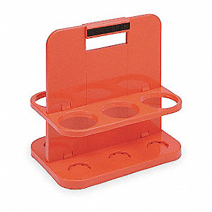 HDPE Cartridge Caddy, Red&#x3b; For Use With 3NLL7 Protection Tube