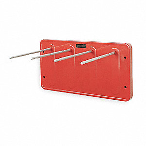 Steel Cartridge Rack, Red&#x3b; For Use With 3NLL7 Protection Tube