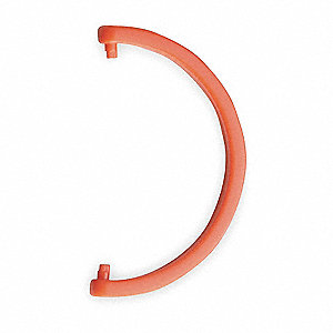 HDPE Cartridge Tube Hanging Hook, Orange&#x3b; For Use With 3NLL7 Protection Tube