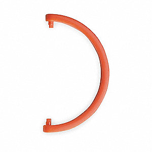 HDPE Cartridge Tube Hanging Hook, Red&#x3b; For Use With 3NLL7 Protection Tube