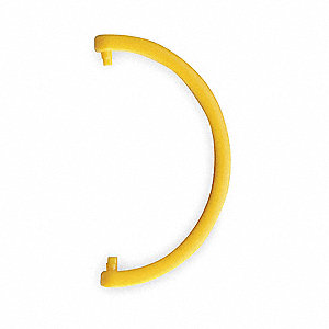 HDPE Cartridge Tube Hanging Hook, Yellow&#x3b; For Use With 3NLL7 Protection Tube
