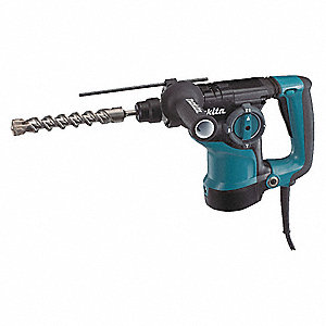 SDS Plus Rotary Hammer Kit, 7.0 Amps, 0 to 4500 Blows per Minute, 120 Voltage