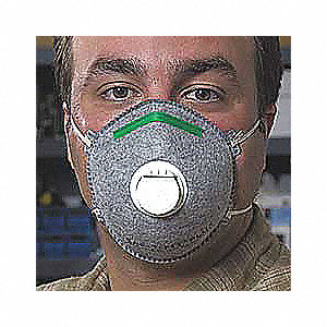 N95 Disposable Particulate Respirator, Gray, S, 10PK