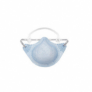N95 Healthcare Disposable Respirator, Blue, M/L, 20PK