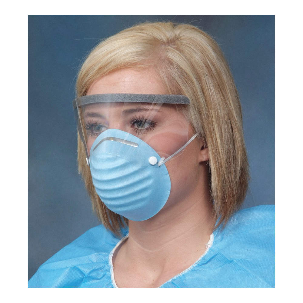 surgical mask with eye shield