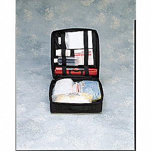 Biohazard Spill Kit, Nylon Carrying Case, 1 EA