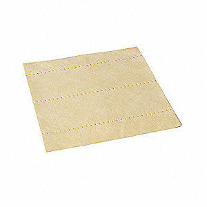"12"" x 12"" Light Absorbent Pad for Universal / Maintenance, Yellow&#x3b; PK100"
