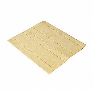 "18"" x 16"" Heavy Absorbent Pad for Chemical / Hazmat, Yellow, 100PK"