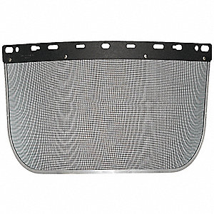 Faceshield Visor,Steel Mesh,Blk,8x15-1/2