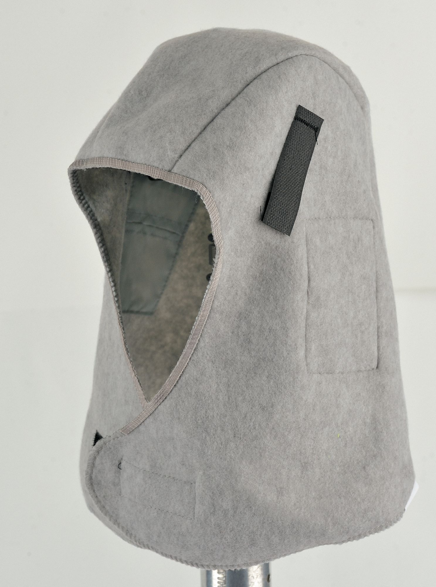 Winter Liner,  Universal,  Hook-and-Loop Adjustment Type,  Gray,  Covers Ears, Head, Neck