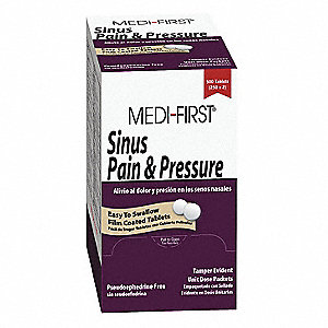 Sinus Pain and Pressure Tablet&#x3b; PK500
