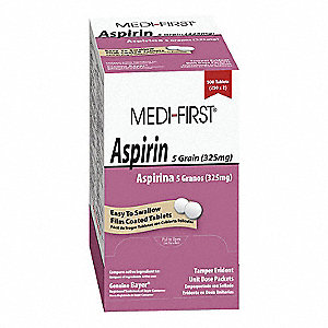 Pain Relief, Tablet, 125 x 2, Regular Strength, Aspirin