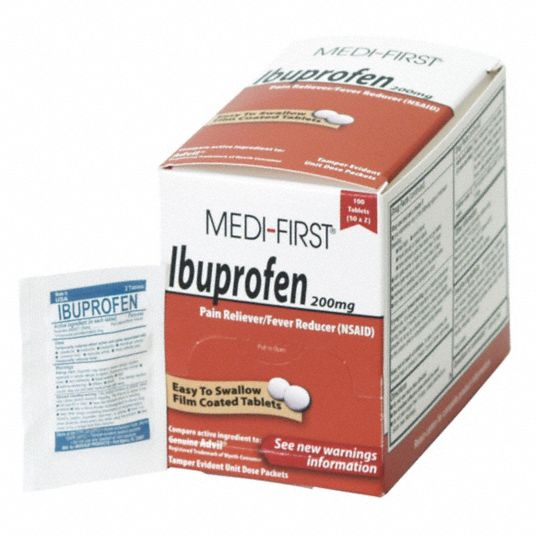 Pain Relief, Tablet, 250 x 2, Regular Strength, Ibuprofen