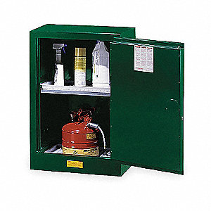 "Pesticide Safety Cabinet, Manual Door Type, 12 gal. Capacity, 35"" Height, 23-1/4"" Width, 18"" Depth"