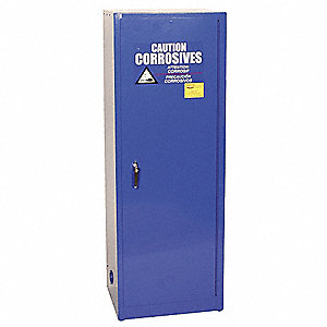 "23"" x 18"" x 65"" Galvanized Steel Corrosive Safety Cabinet, Blue"
