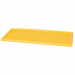 "Shelf, Polyethylene, Yellow, 1"" x 39"" x 14-3/4"""