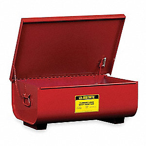 "Red Rinse Tank, Galvanized Steel, Benchtop Mounting Type, 11 gal. Capacity, 8-3/4"" Height"