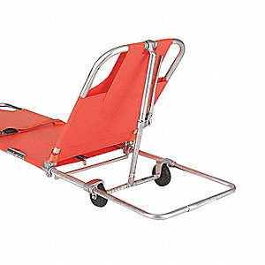 Wheeled Stretcher,350 lb.,74 In.,Orange