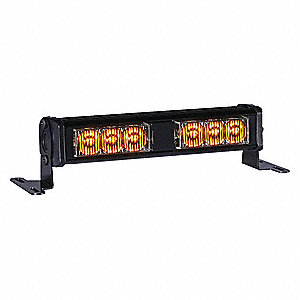 Double Lighthead,LED,Amber,Rect,7-1/8 L