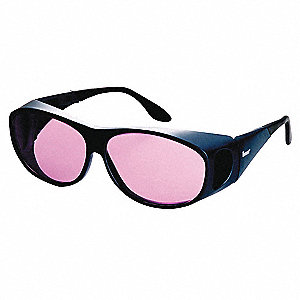 Wraparound Anti-Fog Laser Safety Glasses with Aqua Lenses