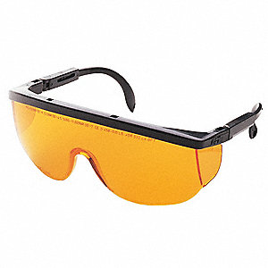 Wraparound Uncoated Laser Safety Glasses with Brown Lenses