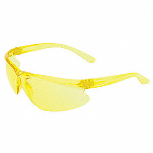 A400 Scratch-Resistant Safety Glasses, Amber Lens Color