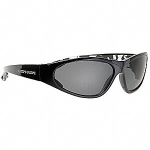 Scratch-Resistant Polarized Safety Glasses, Gray Lens Color
