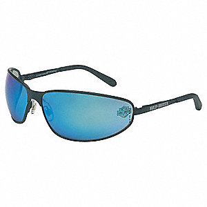 HD500 Scratch-Resistant Safety Glasses, Blue Mirror Lens Color