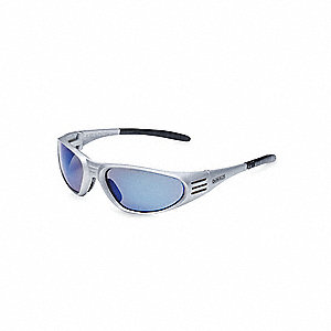 Ventilator  Scratch-Resistant Safety Glasses, Blue Mirror Lens Color