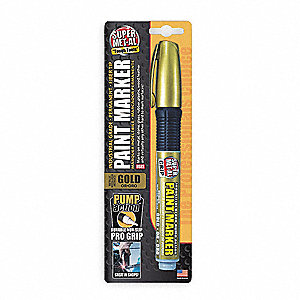 Pump Action Paint Marker,Metallic Gold