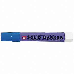 "Paint Crayon with 1/2"" Tip Size and 5 to 7 min. Dry Time, Blue&#x3b; PK12"